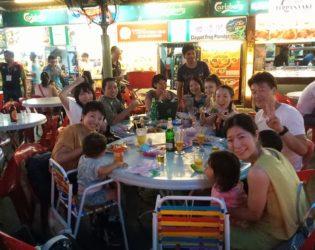 NLPペナン島合宿 ホーカーで食事しながら学ぶ
